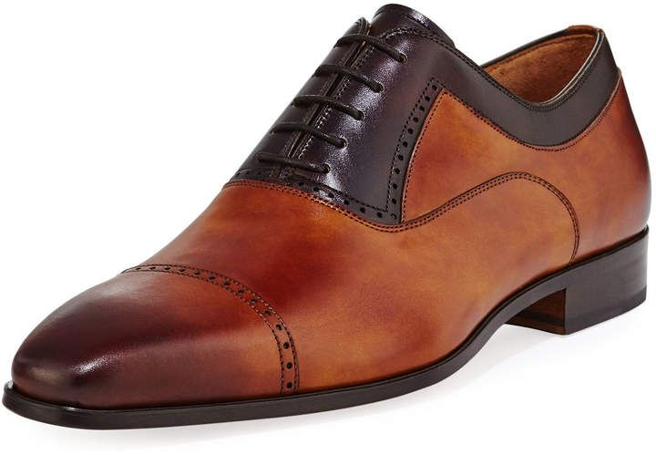d18b7afbb68 Magnanni for Neiman Marcus Leather Brogue Calf Leather Oxford | shoe ...