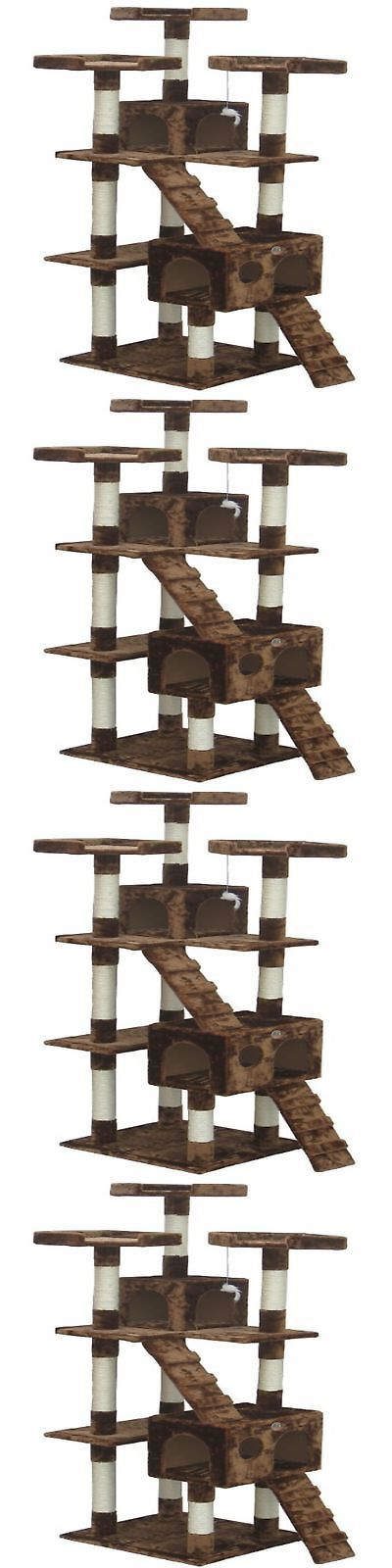 Animals Cats: Cat Tree For Large Cats 72 Scratching Post Furniture Climbing Tower Condo House -> BUY IT NOW ONLY: $72.88 on eBay!
