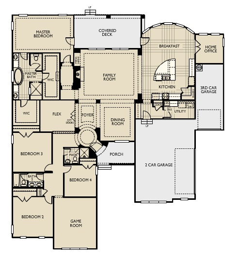 Ashton Woods Floor Plan 3500 Sq Ft Ranch House Plan