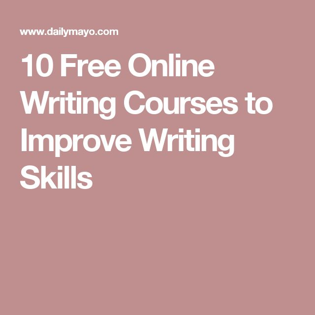 free online writing classes Turn your passion for words into your profession with an online creative writing degree from snhu, a nonprofit, accredited university.