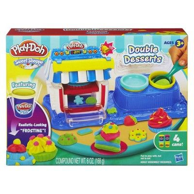 Play-Doh Sweet Shoppe Double Desserts Playset, Acadamy Blue