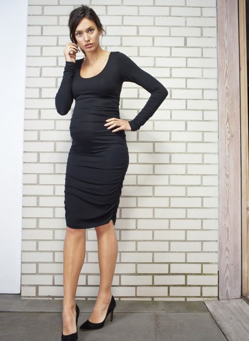 Ruched Midi Maternity Dress| Isabella Oliver | Maternity Dress