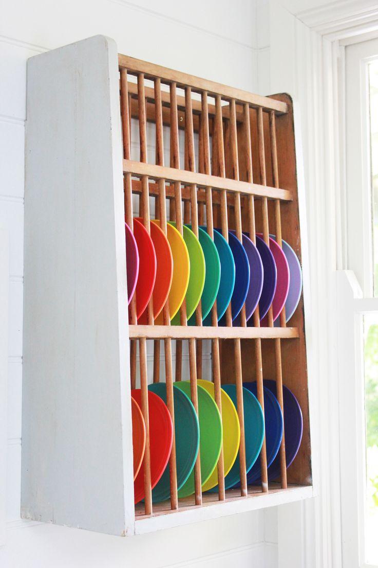 Colourful plates in the large, white modern kitchen at The Coach House. #luxury #luxuryaccommodation #accommodation #weekendaway #wanderlust #kitchen #interiordesign