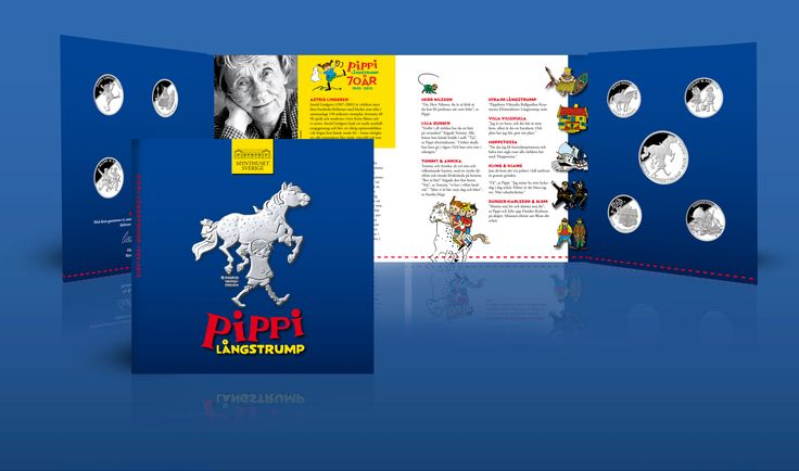 Samlingsmapp - Pippi Långstrump Silvermedaljer