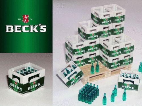BECKS Bier Kiste Kasten 1/18 1/16 LKW Ladegut Diorama Werkstatt Deko Zubehör   eBay