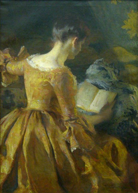 reading and art  frank weston benson