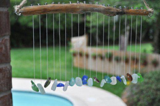 carillon éolien avec des cailleux
