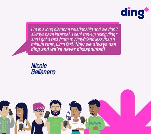 Nicole Gallenero explains why ding* is the only mobile top-up service for her. https://www.ding.com