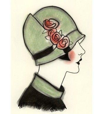 1920s Flapper art print. Art Deco Millie by matou en peluche on Etsy