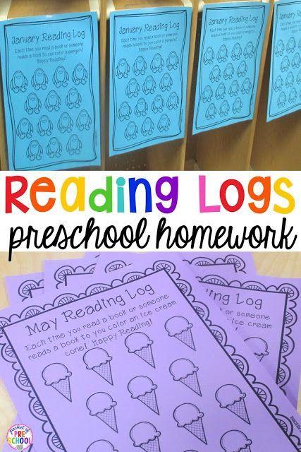 Reading Log Letter For Parents Kindergarten