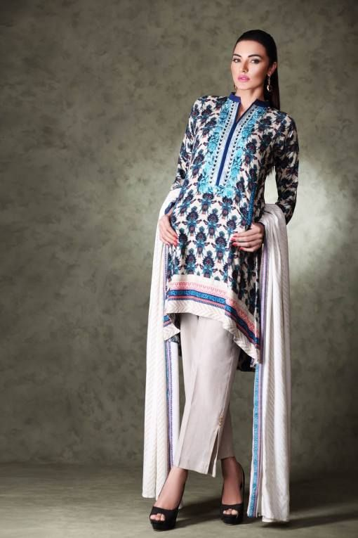 Khaadi Unstitched Linen Winter Collection 2015