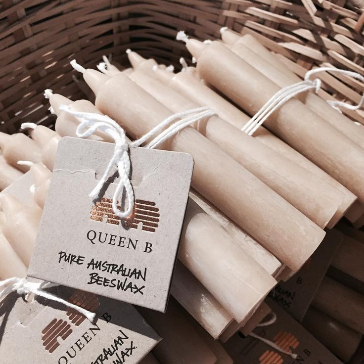 Love these little chubby @queenbcandles taper candles $44 for a packet of 12 | Approx 6 -/+ hours burn time for each candle | #queenb | LITTLE RAE BERRY