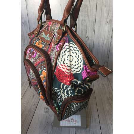 Cotton Road Paisley and Floral Multi Colour Tripple Compartment Bag