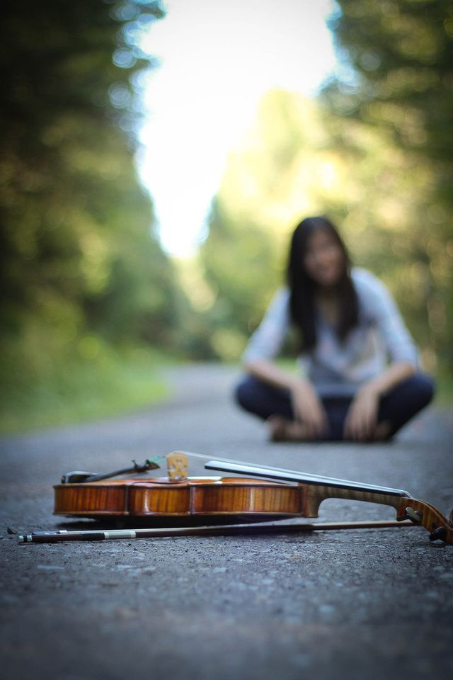 senior pictures violin williamsport pa photography