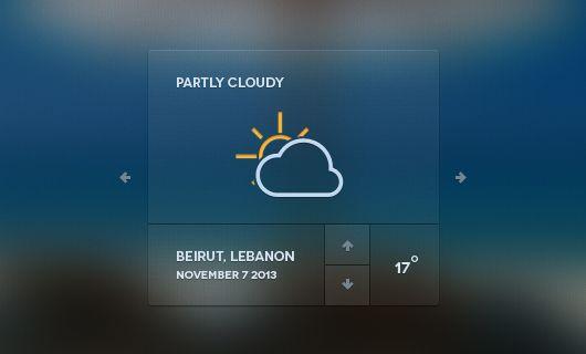 Web Weather Forecast Widget (Psd) | Blugraphic
