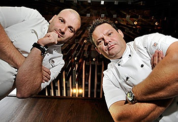 Masterchef Australia. Chef Gary Mehigan with Chef George Calombaris