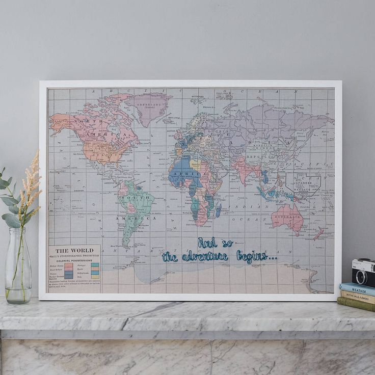 The 25 best world map pin board ideas on pinterest world map and so the adventure begins map notice board gumiabroncs Image collections