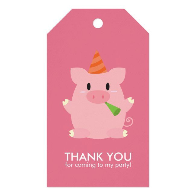 Cute Little Pig Kids Birthday Party Gift Tags   Zazzle.com ...