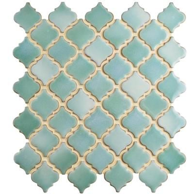 Merola Tile Hudson Tangier Mint Green 12-3/8 in. x 12-1/2 in. x 5 mm Porcelain Mosaic Tile-FKOLTR32 - The Home Depot