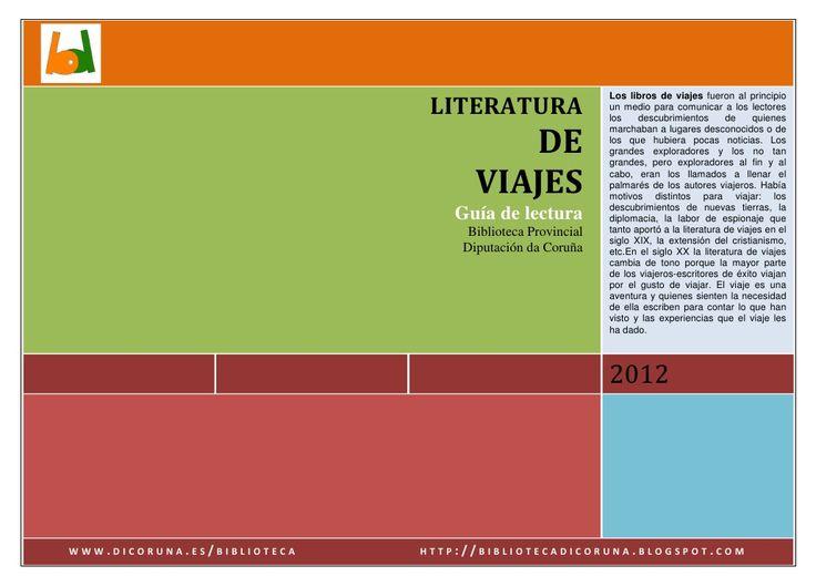 Literatura de viajes gu a de lectura biblioteca pinterest - Biblioteca l eliana ...