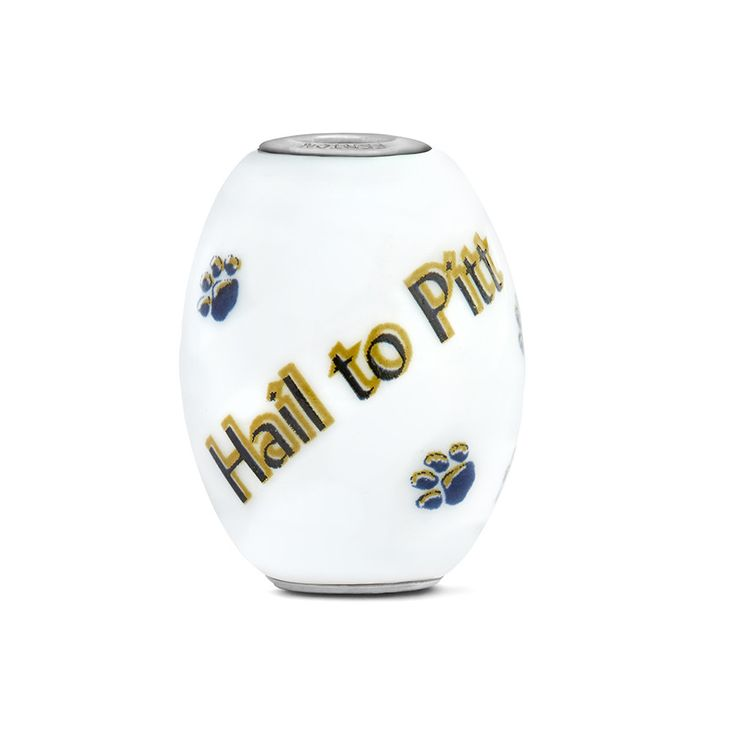 Pitt Collegiate Milk Glass Cornerstone Bead