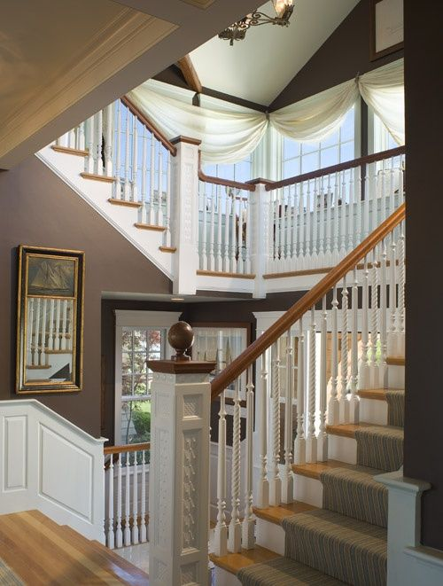 10 Best Staircase Window Treatments Images On Pinterest