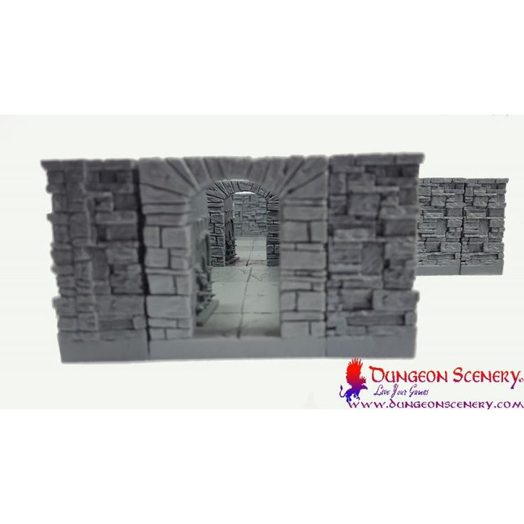 Dungeon Scenery is modular terrain for board games, wargames, RPG, D&D