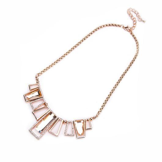 Rose Gold Gem & Diamante Necklace - Was €50.00 Now €25.00 @carraigdonn