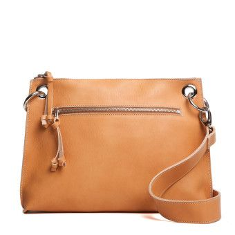 Large Edie Vegetable Tanned Leather | Women's Leather Shoulder Bags | Roots