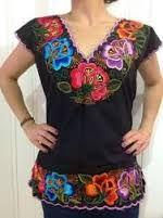 blusas bordadas oaxaqueñas en Pinterest ile ilgili görsel sonucu