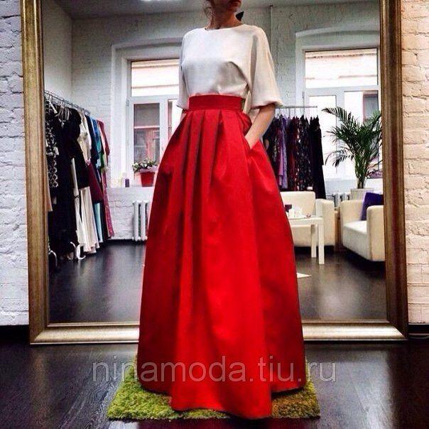 Пышная длинная юбка в пол купить в