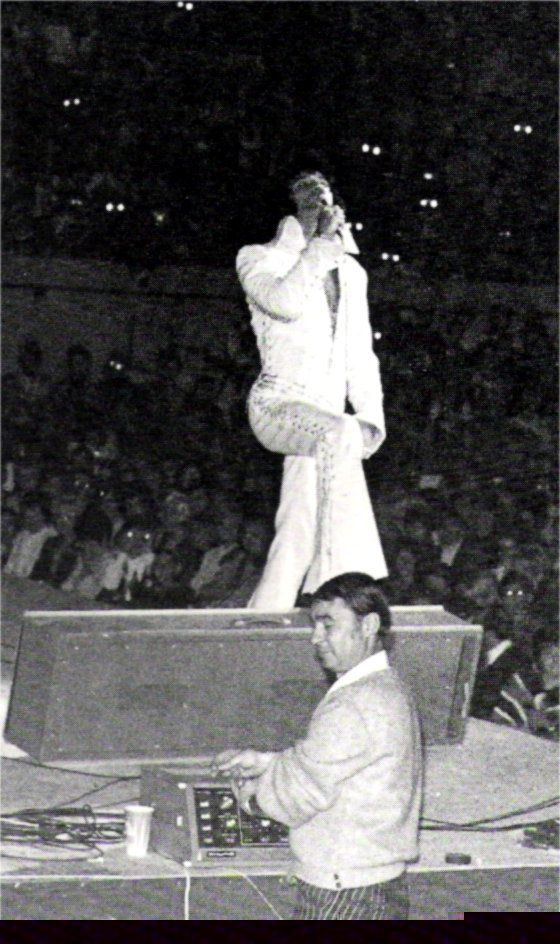Elvis on stage in Oklahoma in november 16 1970.