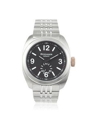 77% OFF Rudiger Men's R5001-04-007.1 Siegen Black/Stainless Watch