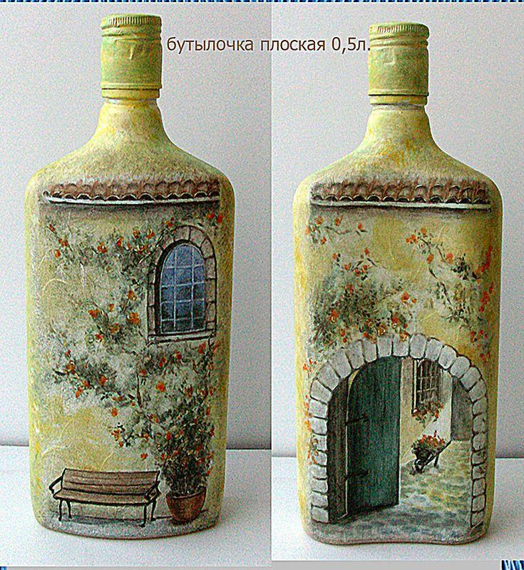 картинки декупаж бутылок и банок болту шестигранной головкой