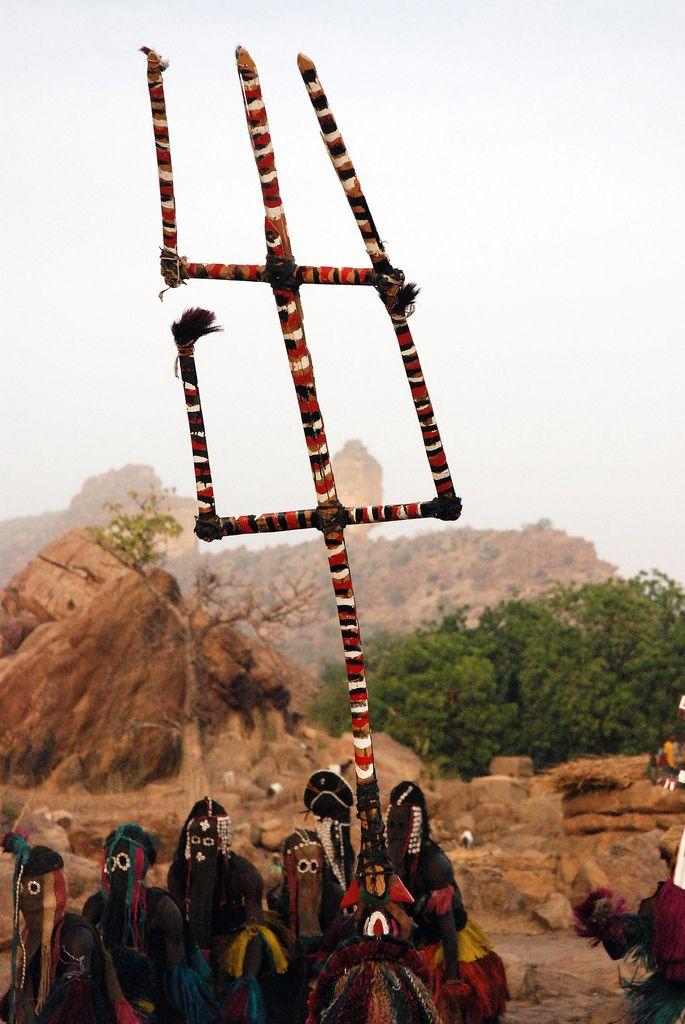 Dogon funeral dance - Ende