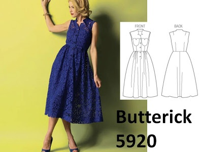 Love this new Butterick 5920, cute Vintage style dress!