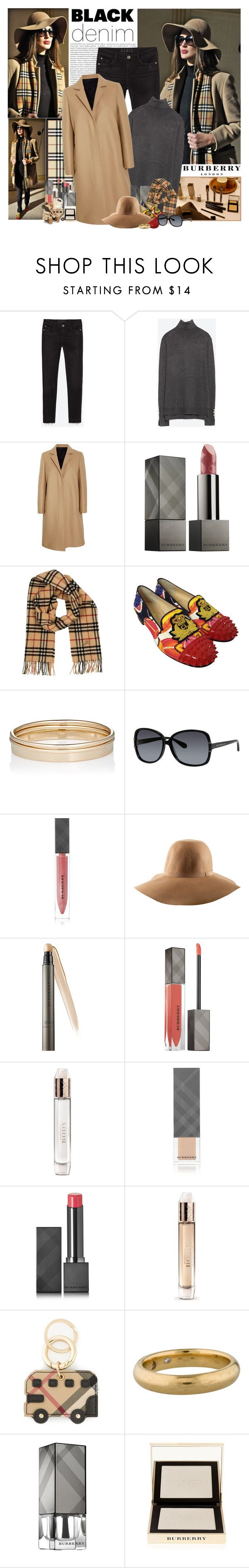"""Blogger Style: Amina Allam"" by jleigh329 ❤ liked on Polyvore featuring Oris, Zara, Burberry, MSGM, Christian Louboutin, Minor Obsessions, Marc by Marc Jacobs, H&M, women's clothing and women"