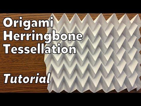 Origami Herringbone Tessellation | Tutorial - YouTube