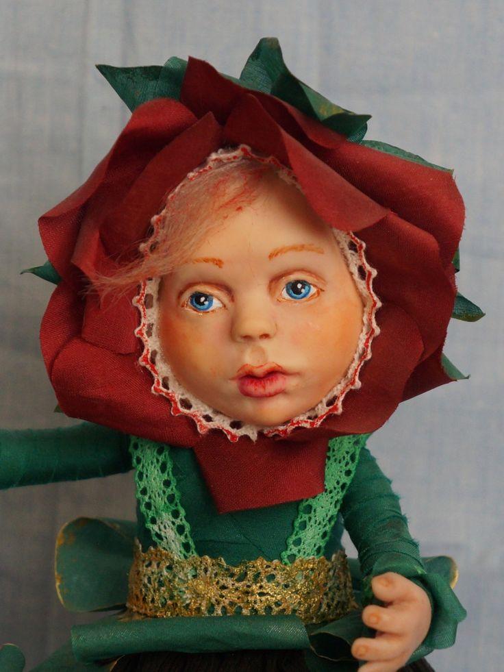 Прекрасная девочка-цветок. 24 см. Единственный экземпляр. 2014 год. by artdollcom on Etsy