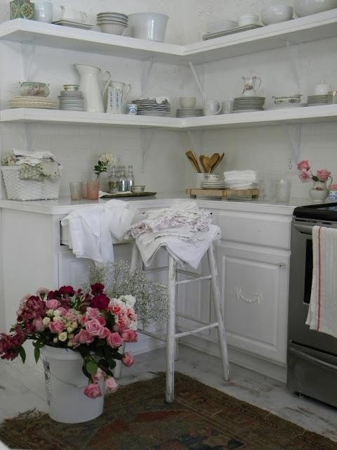 from the white cottage kitchen...