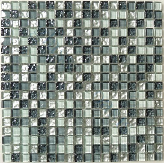 moso mosaics clearance x slate glossy blue glass and stone