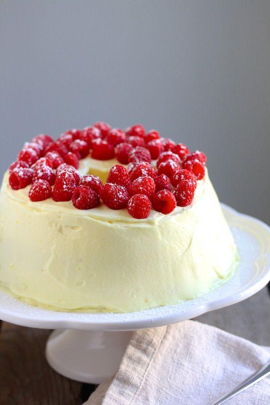 ... Cake, Lemon Angels Food Cake Recipe, Angelfood Cake, Lemon Raspberries