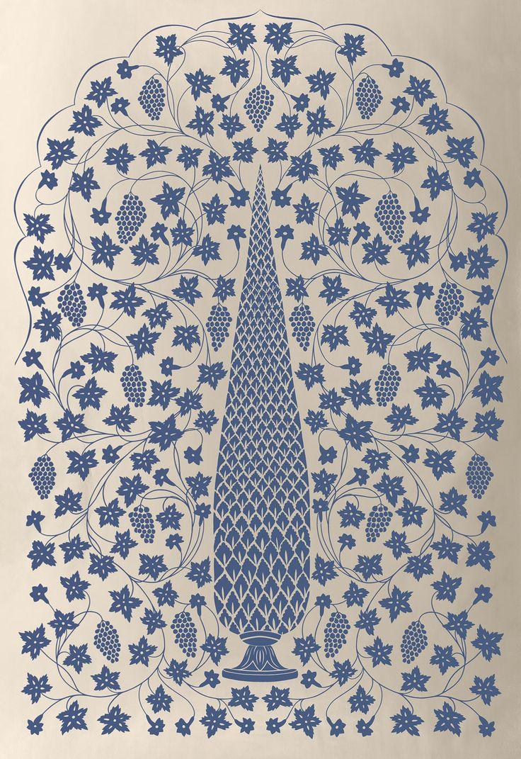 Mughal Panel in Imperial, 5006692. http://www.fschumacher.com/search/ProductDetail.aspx?sku=5006692  #Schumacher