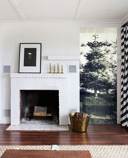 christmas tree alternative with alpine wallpaper