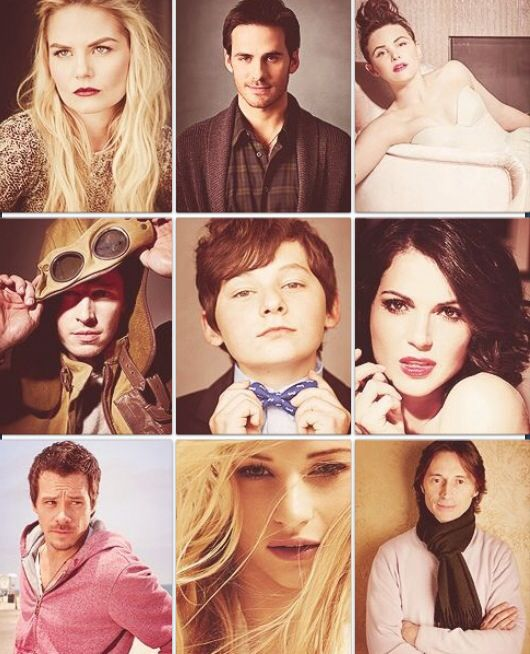 Glamour shots of the #OUAT cast. (Emma, Hook, Snow, Charming, Henry, Regina, Neal, Belle, & Rumple.)