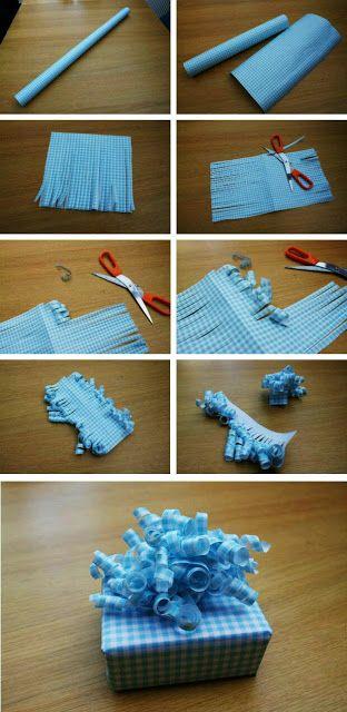 más y más manualidades: Ideas con moños de papel para tus regalos de navidad