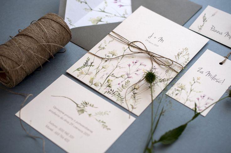zaproszenia ślubne Koszalin, łąka, kwiaty, pole, summer, zaproszenia Koszalin, zaproszeniaślubne, miodunkapapeteriaślubna, wedding, ślub, papeteria, miodunka