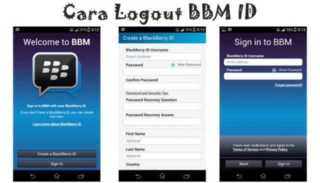Cara Logout / Sign Out BBM ID di Android, Blackberry & iPhone