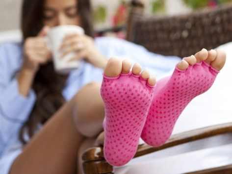 Pilates socks.. Or socks for those who hate wearing them