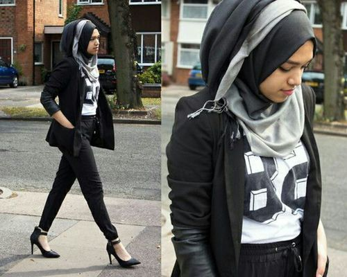 Love it! I'd wear it w a red lip tbh #hijab #popofcolor